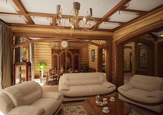 Дизайн дома из бревна