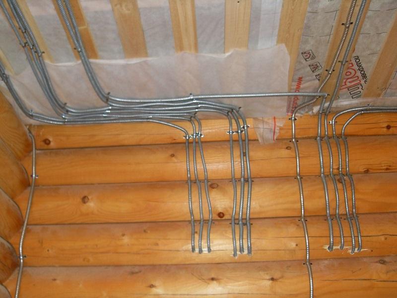 Разводка электропроводки в деревянном доме своими руками 63
