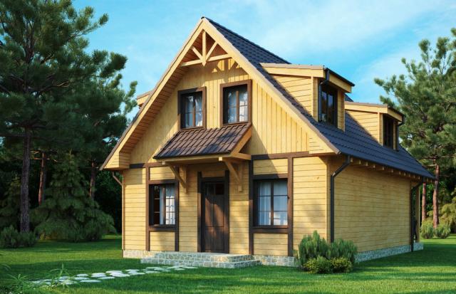 двухскатная конструкция крыши