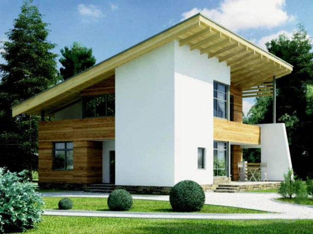 односкатная конструкция крыши