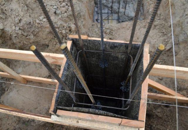 площадь под столбчатый фундамент