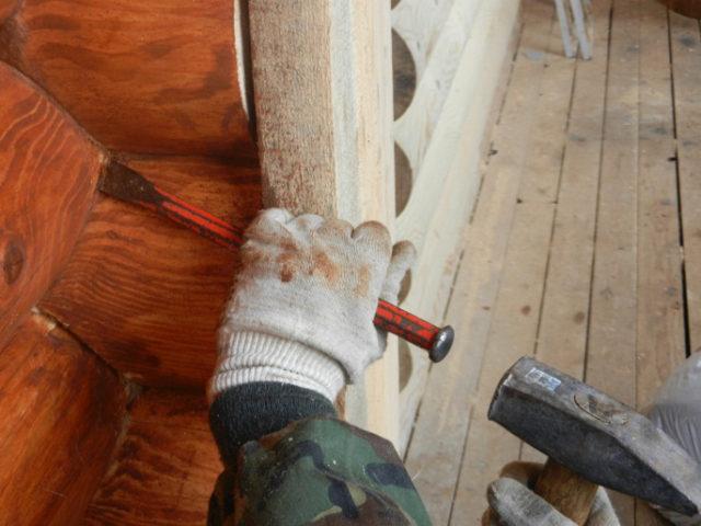 ремонт дома из оцилиндрованного бревна