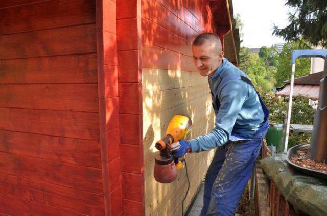 обработка деревянного дома антипиреном