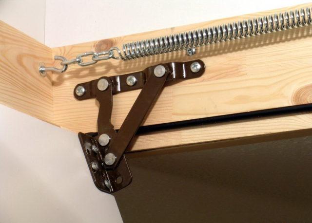 механизм крепления лестницы с люком