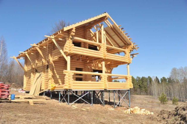 дом на свайно-ростверковом фундаменте