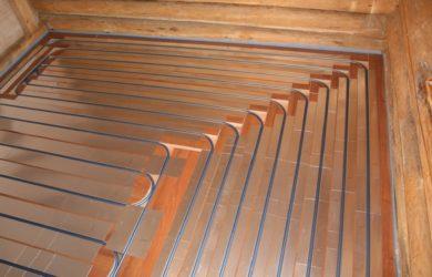 теплый водный пол в деревянном доме