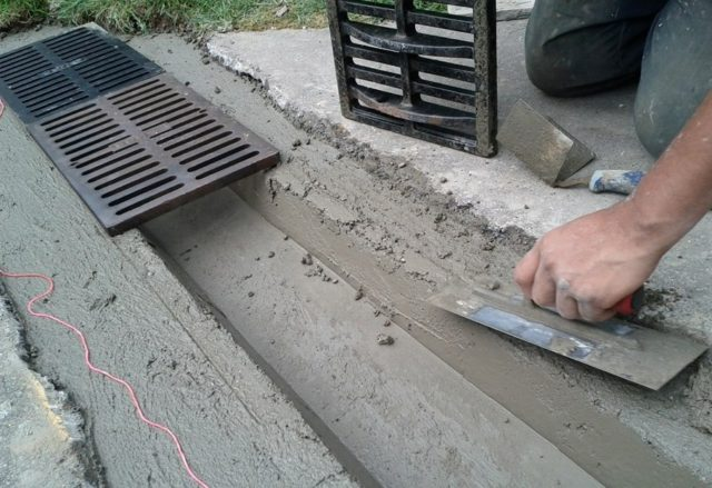 установка решеток для ливневой канализации