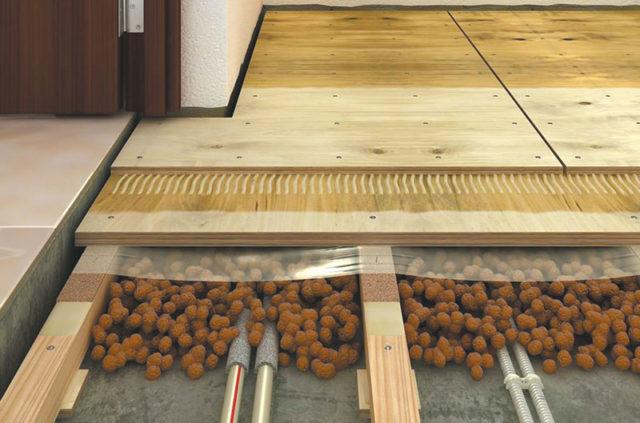 укладка теплого пола на деревянное перекрытие