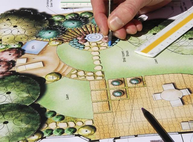 проект ландшафтного дизайна участка 15 соток