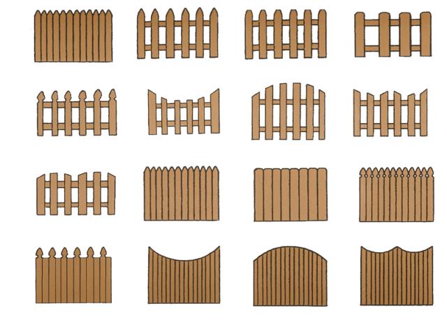 деревянные заборы для дома