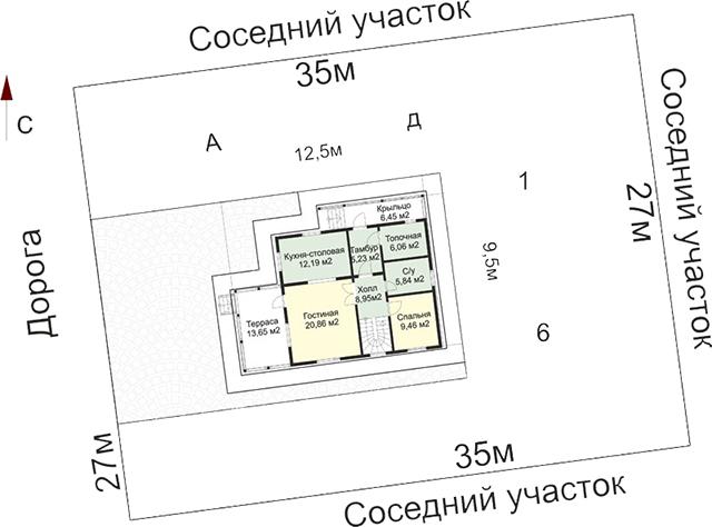 определение уровня посадки дома