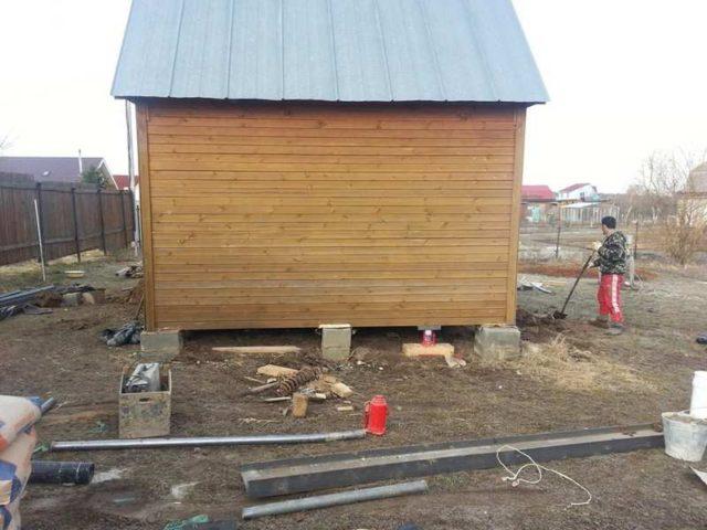 демонтаж старого фундамента и подготовка к установке нового
