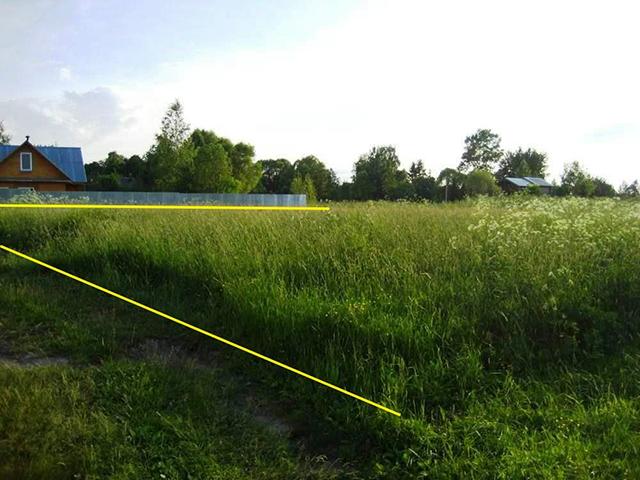прямоугольная форма земельного участка для строительства дома