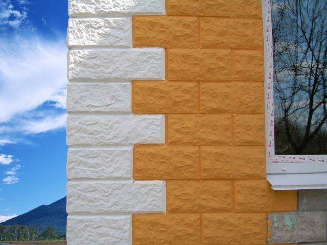 Облицовка стены из керамзитобетонных блоков