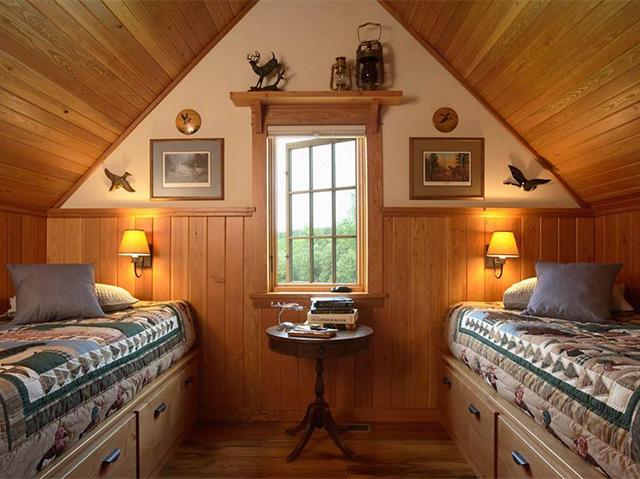 дизайн спальни на мансардом этаже