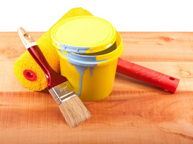 инструменты для покраски сруба