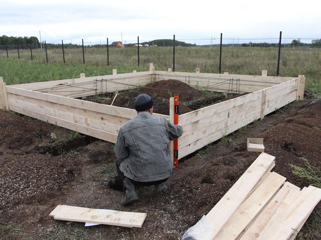 разметка фундамента под дом с прямыми углами