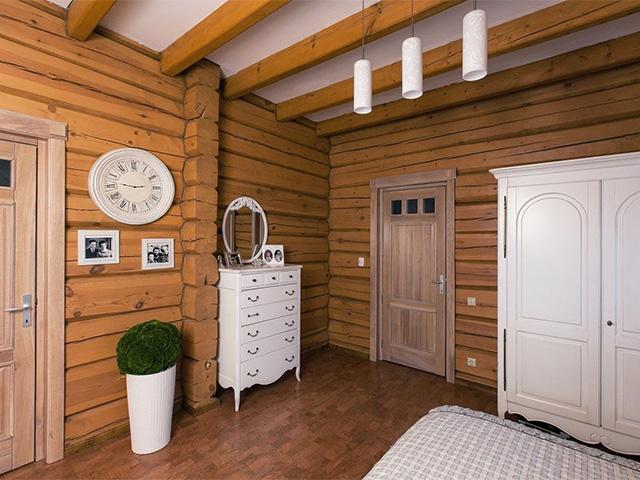 стиль прованс в деревянном доме из бруса