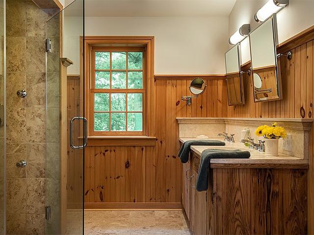дизайн ванной комнаты из вагонки