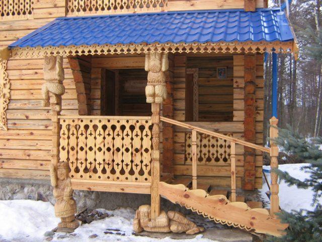 ограждения для деревянного крыльца