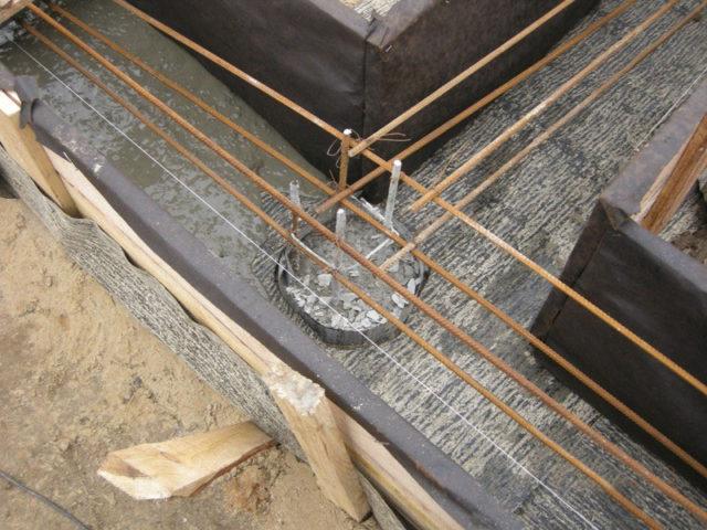 опалубка для буронабивного фундамента с ростверком