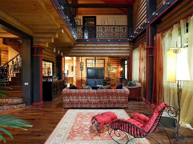 этно стиль в бревенчатом доме