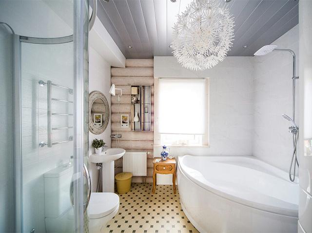 внутренняя отделка ванной комнаты в стиле минимализм