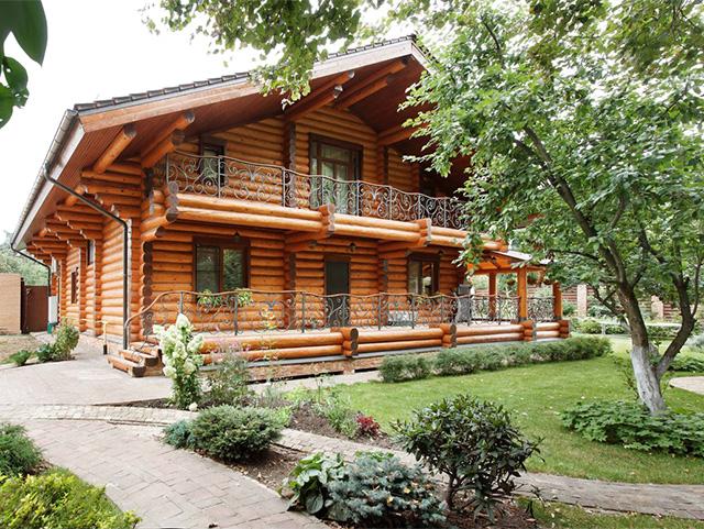 готовый дом из бревна
