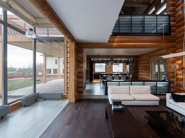 интерьер дома в стиле лофт