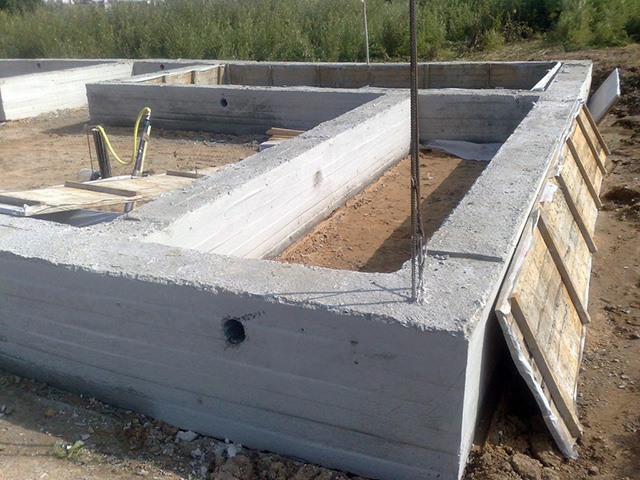ленточный фундамент для деревянного дома