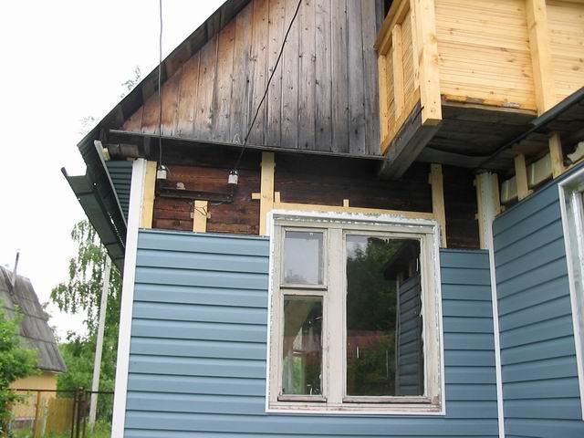 ремонт старого дома из бруса
