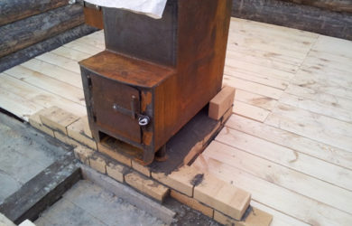 установка фундамента под печь