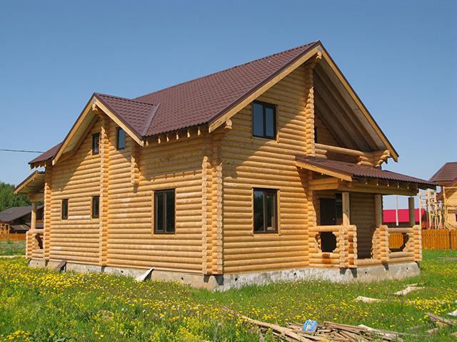 дом из оцилиндрованного бревна для большой семьи
