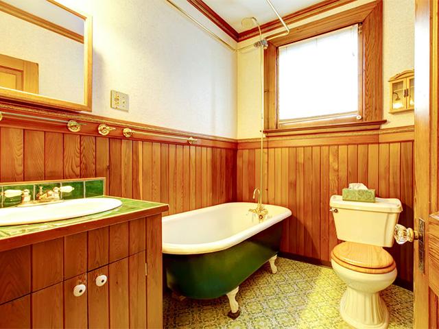 обшивка стен ванной вагонкой