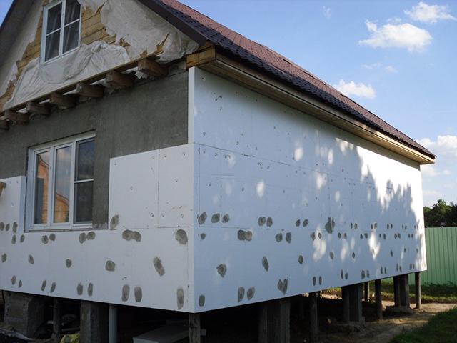 пенопласт для утепления деревянного дома