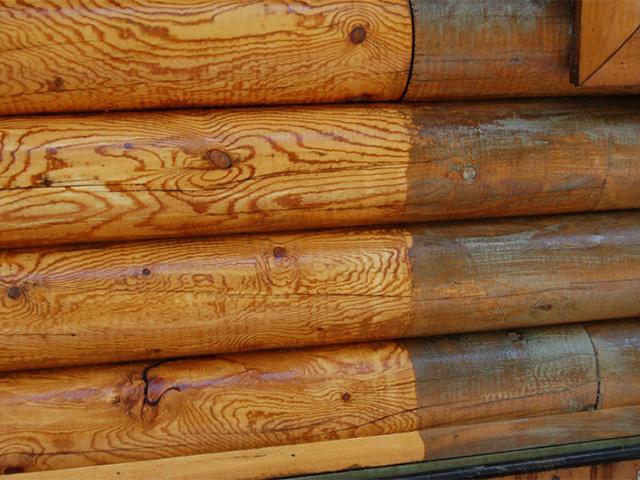 огнезащитная обработка стен сруба из бревна