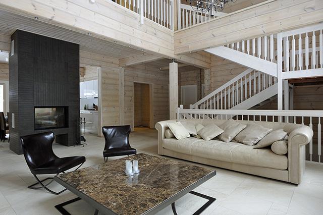 скандинавский стиль в деревянном доме