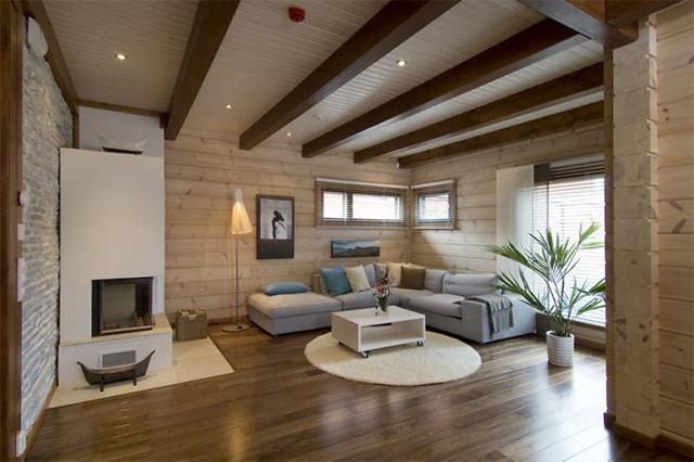 эко стиль в деревянном доме