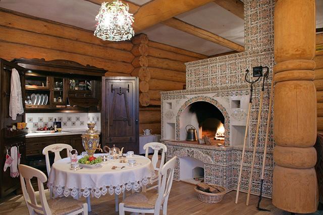 дизайн кухни в стиле русское кантри