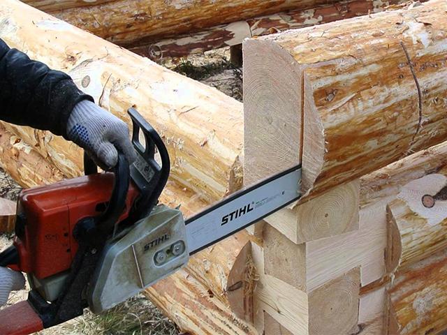 снятие древесины пилой